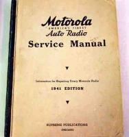Motorola Auto Radio Service Manual 1941 Supreme Spublications